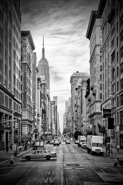 NEW YORK CITY 5th Avenue | zwart-wit  van Melanie Viola