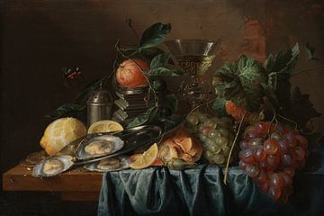 Stilleven met oesters en druiven, Jan Davidsz. de Heem