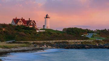 Sonnenuntergang Nobska Light, Cape Cod