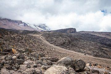 Wandelweg door een kale vallei van Mickéle Godderis