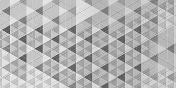 Geometrisch 01 schwarz-weiß von Ramon Schellevis