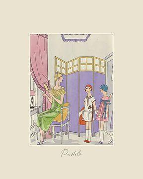 Pastels - Impression de mode Art déco historique sur NOONY