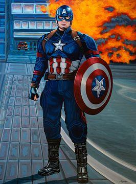 Captain America Schilderij van Paul Meijering