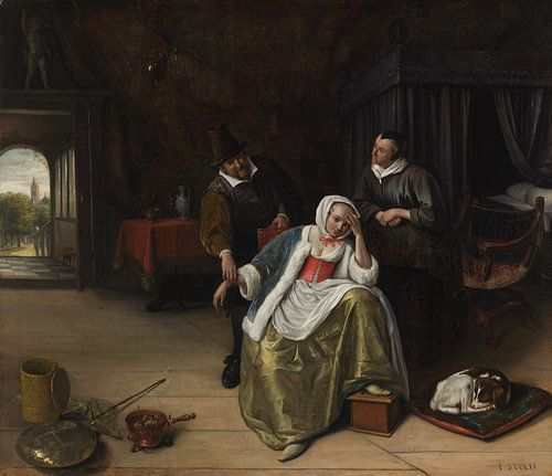 Polsvoelende dokter (Meisje met liefdesverdriet), Jan Steen van Meesterlijcke Meesters