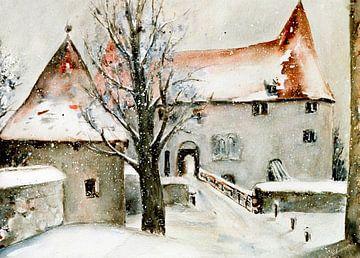 le château de Burghausen sur Christine Nöhmeier