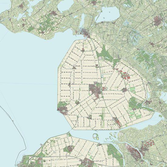 Kaart vanNoordoostpolder
