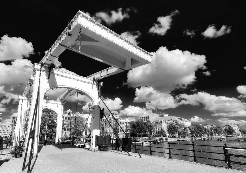 Magere brug in zwart-wit