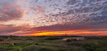 Leuchtturm Eierland Texel Schöner Sonnenuntergang von Texel360Fotografie Richard Heerschap
