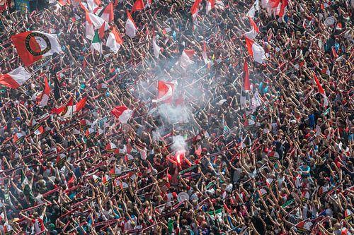 You'll Never Walk Alone ... während Feyenoord Zeremonie auf dem Coolsingel in Rotterdam