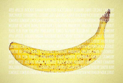 Fruities in kleur Banaan van