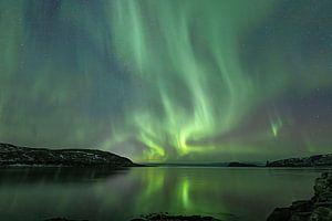 Noorderlicht op Kvaløya nabij Tromsø