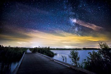 Melkweg bij het Leekstermeer van Hessel de Jong