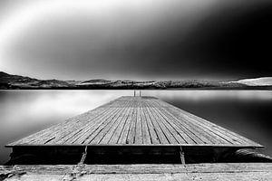 Zwart Wit steiger Lago Nicoletti Sicilie
