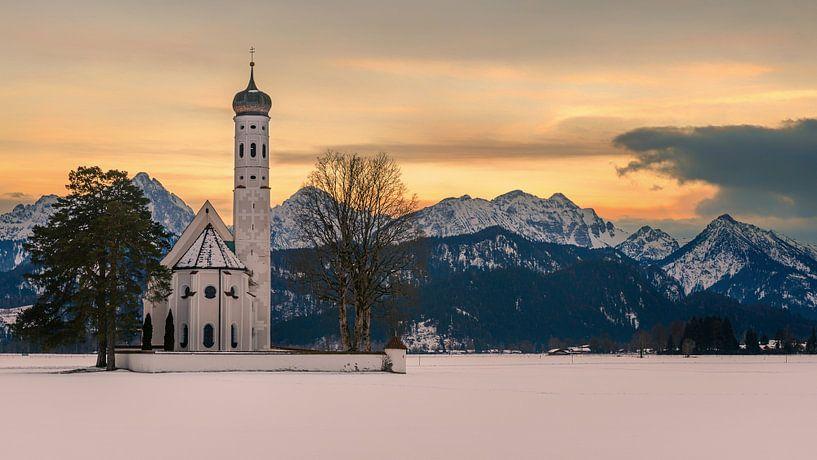 St. Coloman Kirche, Hohenschwangau, Bayern, Deutschland von Henk Meijer Photography