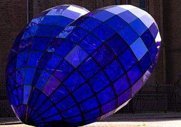 Het blauwe hart van Delft van MK Audio Video Fotografie