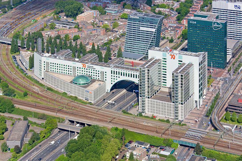 Luchtfoto Haagse Poort te Den Haag van Anton de Zeeuw