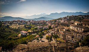 Zicht op Altomonte, Italië van Manja Herrebrugh - Outdoor by Manja