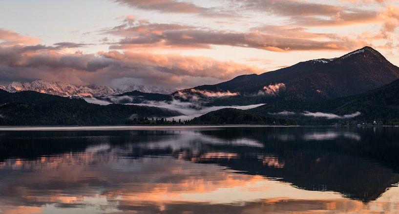 Letztes Licht am Walchensee von Jürgen Rockmann