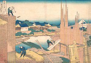 Tatekawa in Honjō, Katsushika Hokusai