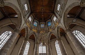 Het glas in lood van de Laurenskerk in Rotterdam