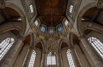 Het glas in lood van de Laurenskerk in Rotterdam van