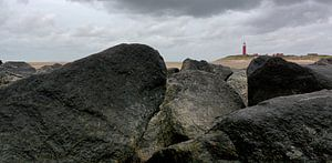 Panorama Stenen dam Vuurtoren Texel