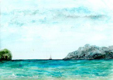 Zicht op de zee van Sandra Steinke