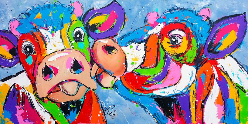Großer Kuss von Vrolijk Schilderij