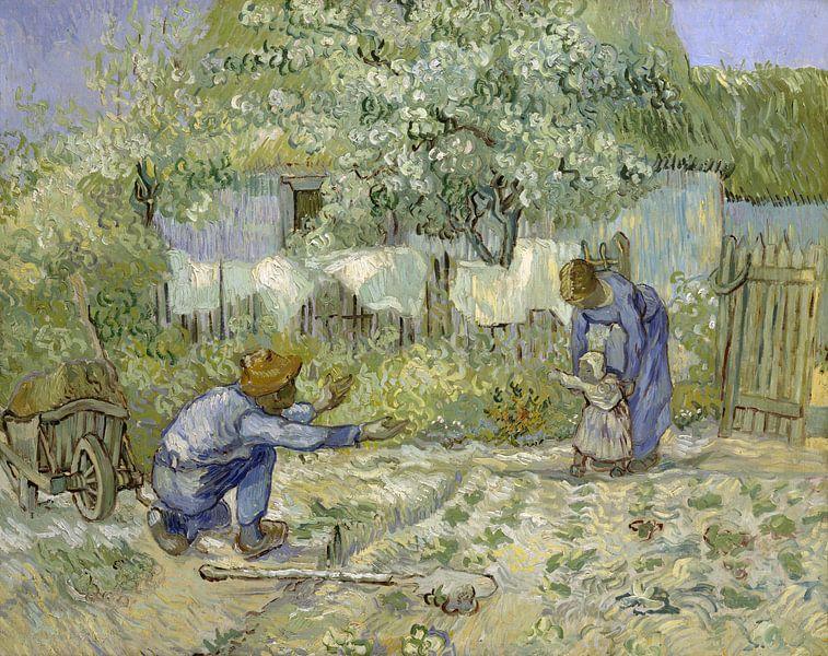 Die ersten Schritte, nach Millet, Vincent van Gogh, 1890 von Het Archief