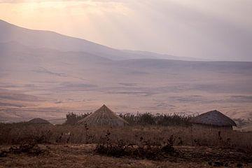 Hutten op de Serengeti