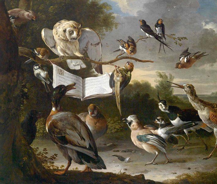 Vogelconcert, Melchior d'Hondecoeter van Meesterlijcke Meesters