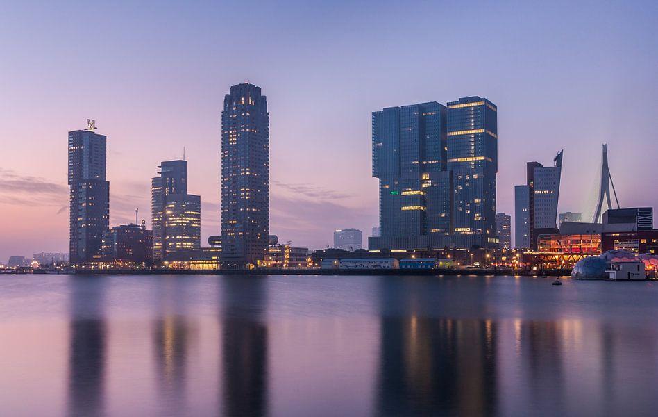 Rijnhaven just after sunset