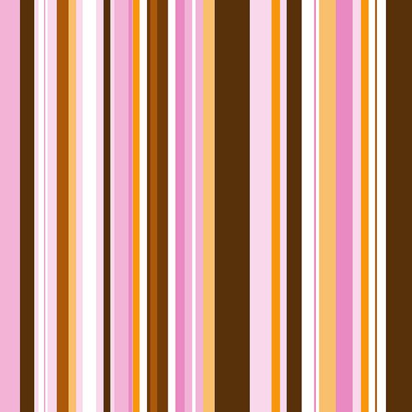 Striped art brown pink yellow van Patricia Verbruggen