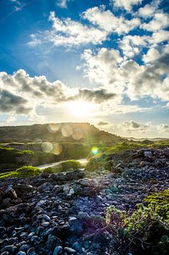 Magischer Sonnenuntergang in Curacao von Joke Van Eeghem