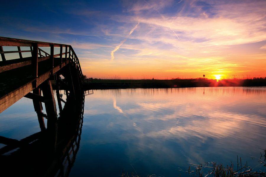De Kikker, brug over de boezem bij Groot Ammers
