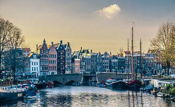 Grachtenpanden in het centrum van Amsterdam van Rietje Bulthuis