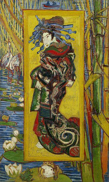 Courtesan - Vincent van Gogh - Japan van Prachtige Prints