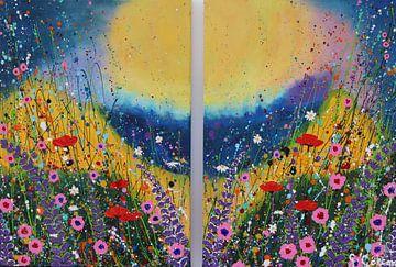 Diptychon Blumengarten von Gulserin Gokcan
