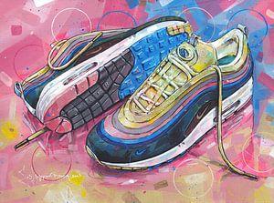 Nike air max 1 Sean Wotherspoon Gemälde von Jos Hoppenbrouwers