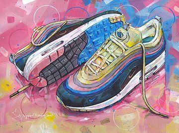 Nike air max 1 Sean Wotherspoon schilderij van Jos Hoppenbrouwers