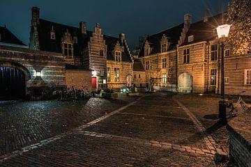 Binnenplaats van stadspaleis Markiezenhof in Bergen op Zoom van Rick van Geel