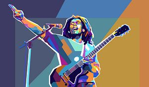Bob Marley Pop-Art-Malerei Reggae & Dreadlocks