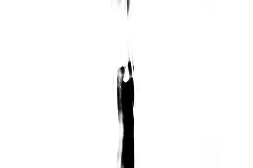 Twee figuren zwart-wit van Henriëtte Mosselman