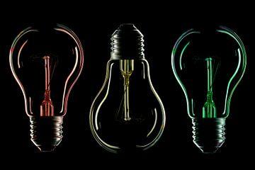 Lampensilhouette und Farbe 2 von Tanja van Beuningen