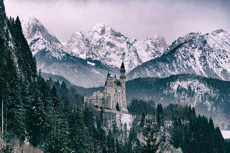Winterliches Märchenschloss Neuschwanstein