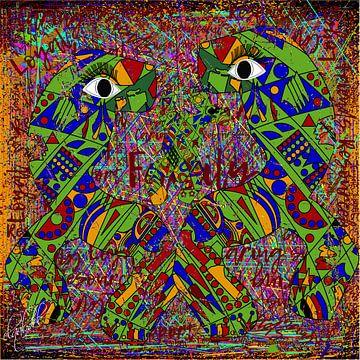 Dierenkunst van geometrische vormen van EL QOCH