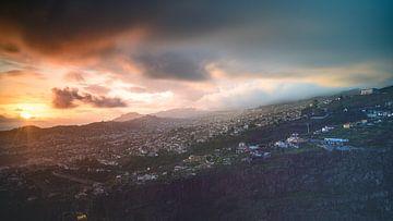 Zonsondergang Funchal Madeira van Robbie Nijman