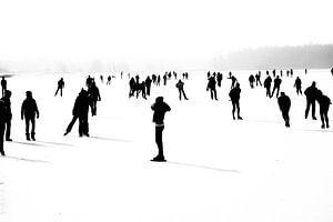 Winter in Zwart Wit van