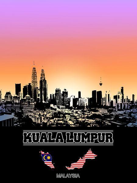 Kuala Lumpur van Printed Artings