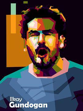 Gundogan football in WPAP von miru arts